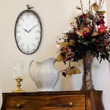 overstock com home decor stratton home decor antique oval clock free shipping today