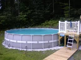 ideas elegant big round pool with ladder and intex ultra frame