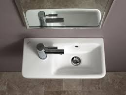 bathroom sink with side faucet bissonnet comprimo 40 50 sink sinks gallery