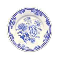 caspari blue and white china paper dessert plates paperstyle