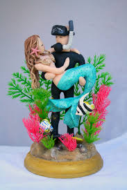 fisherman cake topper imposing decoration mermaid wedding cake topper innovation idea