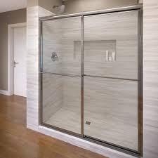 23 Inch Shower Door Basco Deluxe 44 X 68 Bypass Framed Shower Door Reviews Wayfair