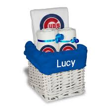 chicago gift baskets chicago cubs white personalized small gift basket mlbshop
