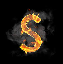 burning and flame font s letter stock photo colourbox