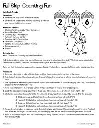 fall skip counting fun kindergarten 2nd grade lesson plan