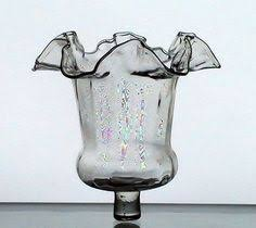 4 home interiors homco clear fluted votive sconce cups w new