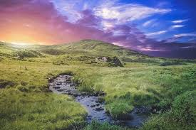 vacation in ireland warm evening twilight landscape summer cheap