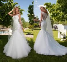 1985 wedding dresses 2016 sheer crew neck lace tulle mermaid wedding dresses 2015