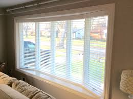 bow windows with blinds inside bay between the glass ideas door