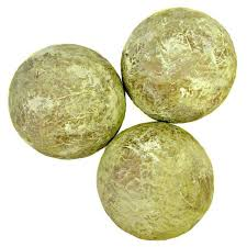 accent balls set of five assorted texture decorative paper mache
