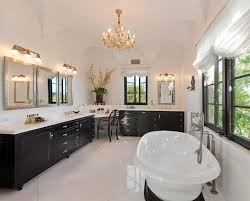 Built In Bathroom Vanity Awesome Master Bathroom Vanity Lights Modern Master Bathroom With