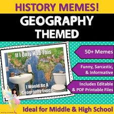 Editable Memes - geography themed classroom poster set memes by easy lit units