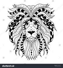 abstract lion vector illustrationtattoo design may stock vector