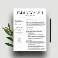 Word Resume Template Resume Template For Word And Pages Educator Resume