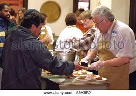 thanksgiving dinner for homeless stock photo royalty free