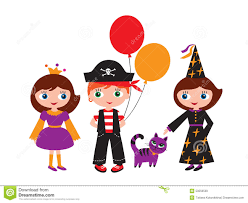 kids halloween party clipart children in christmas carnival costumes stock image image 35583381