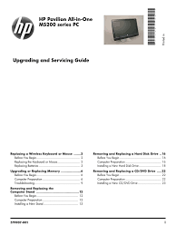 hp ms200 repair guide desktop computer battery electricity