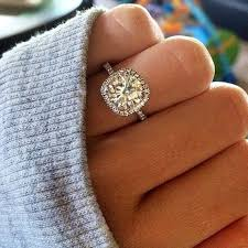 thin band engagement ring engagement ring perfection cushion cut halo with a thin band