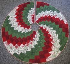 Quilted Christmas Tree Skirts To Make - peppermint twist tree skirt using 9 degree wedge ruler get the