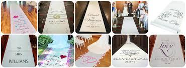 Aisle Runner Wedding Personalised Wedding Aisle Runner Ozzy James Parties U0026 Events