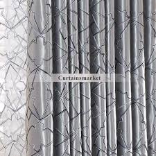Modern Pattern Curtains Geometric Patterned Gray Window Curtains