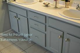 Painting A Bathroom Vanity Before And After by Oh The Vanity 3 Paint Colors Later Chernee U0027s House Paint Old