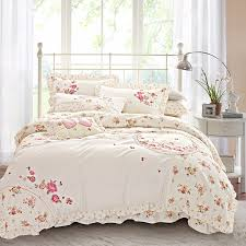aliexpress com buy 100 cotton korean floral embroidery bedding