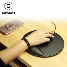 bureau en gros souris vente en gros sovawin business 3d cuir tapis de souris avec repose