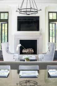 fireplace living room ideas putting tv over gas on wall above
