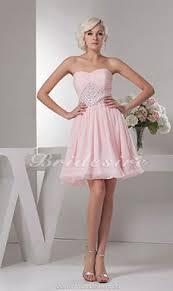 a linie herzausschnitt knielang chiffon brautjungfernkleid mit gestupft p551 bridesire festliche kleider günstig festkleider 2017