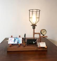Desk Organizer Lamp Steampunk Docking Station Edison Bulb Lamp U0026 Desk Organizer
