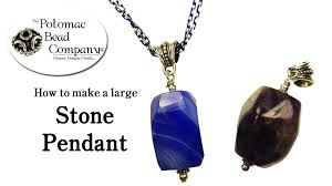 diy stone pendant necklace images How to make a large stone pendant jpg