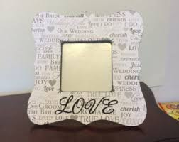 Personalized Wedding Photo Frame Custom Wedding Frame