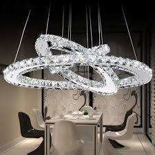 crystal chandeliers lighting home lighting fixtures ring led