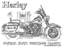 harley coloring harley davidson free motorcycles coloring