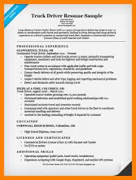 7 truck driving resume mla cover page