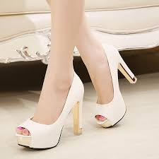 wedding shoes chunky heel in stock 2015 luxury peep toe black white bridal shoes high chunky