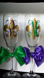 personalized mardi gras personalized mardi gras wedding chagne flutes by vinyleyours