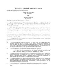 Commercial Lease Sample Commercial Rental Agreement Template Free Official Certificate Ms