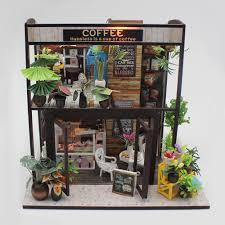 Diy Dollhouse Furniture Aliexpress Com Buy Wood Dollhouse Furniture Kit Miniature Coffee