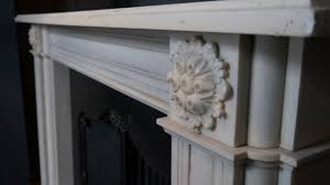 georgian style aged statuary white marble fireplace surround for