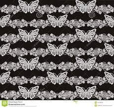 butterfly and floral white lace seamless pattern royalty free