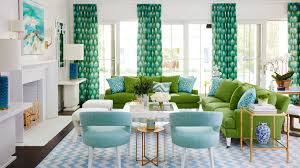 blue green living room our favorite green rooms coastal living