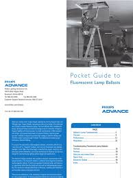 pocket guide to flourescent lamp ballasts fluorescent lamp