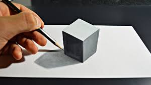 3d painting on paper with pencil how to draw 3d art on paper you