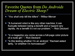 do androids of electric sheep do androids of electric sheep quiz show