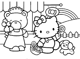 hello kitty coloring pages for girls deliberately designed color