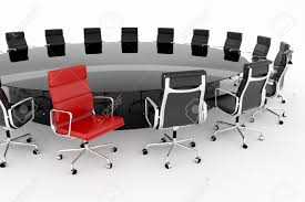 conference table and chairs set conference table set with one red chair stock photo picture and