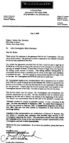 Attorney Letter Of Representation by Evidence Certification Letter Of James Maynard To New Jersey