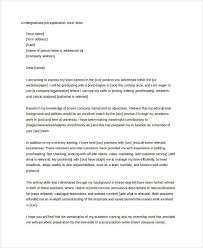 cover letter for student 9 free word pdf format download